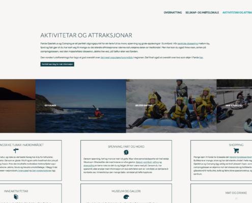 Informasjon om aktiviteter og attraksjoner i området