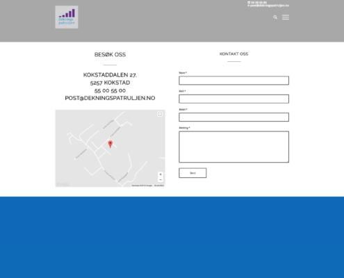 Kontaktside med kontaktskjema